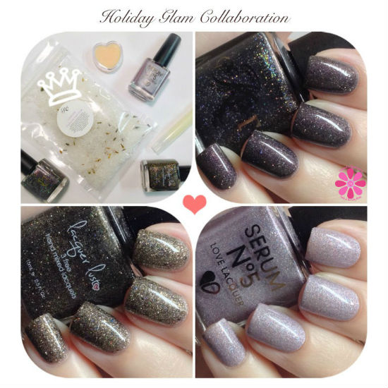 Holiday Glam Collaboration Box from Polished by KPT, Lacquer Lust & Serum No 5 Swatches & Review
