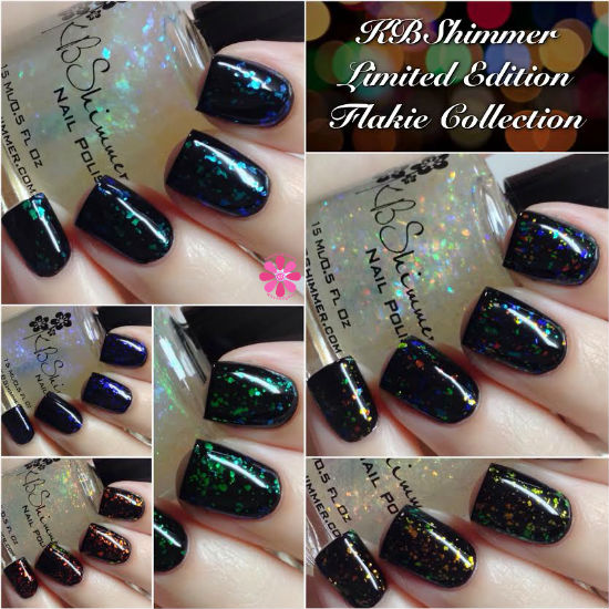 KBShimmer Limited Edition Flakie Collection Swatches & Review
