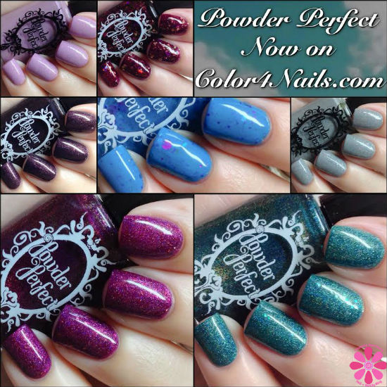Powder Perfect Swatches & Review including Color4Nails Exclusives
