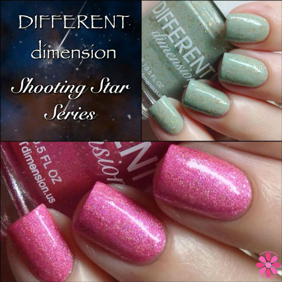 DIFFERENT dimension Shooting Star Series – Perseus & Cassiopeia Swatches & Review