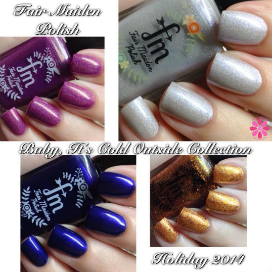 Fair Maiden Polish Baby It's Cold Outside Collection Swatches & Review