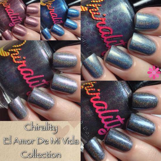 Chirality Nail Polish El Amor De Mi Vida Collection Swatches & Review