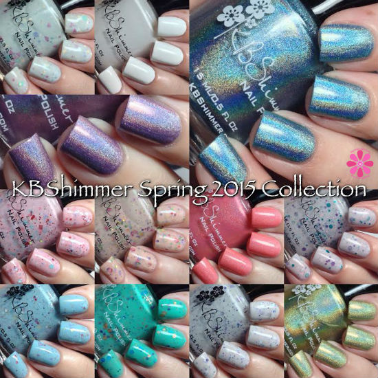 KBShimmer Spring 2015 Collection Swatches & Review