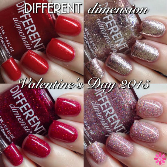 DIFFERENT dimension Valentine's Day 2015 Collection Swatches & Review
