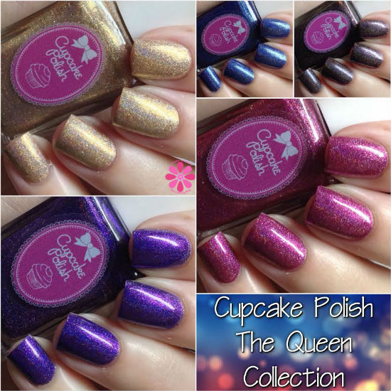 Cupcake Polish The Queen Collection Swatches & Review