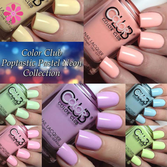 Color Club Poptastic Pastel Neon Collection Swatches & Review