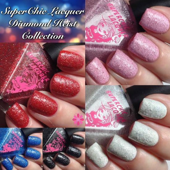 SuperChic Lacquer Diamond Heist Collection Swatches & Review
