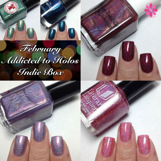 February Addicted to Holos Indie Box Reveal, Swatches & Review