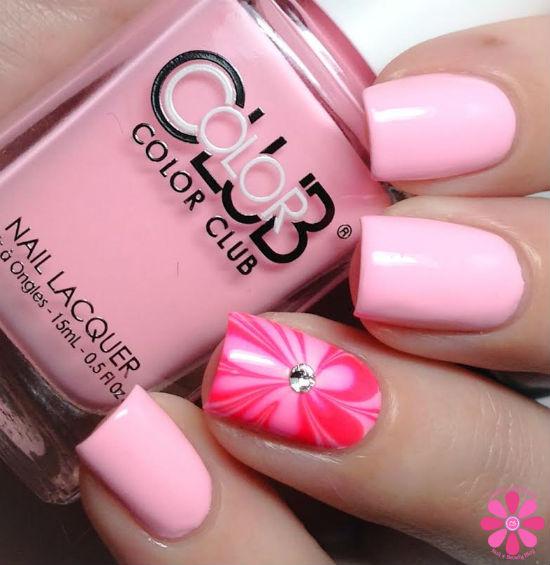 Valentine's Day Mani Using Color Club & Crystalline Nail Veil