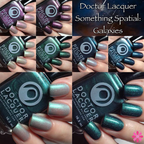 Doctor Lacquer Something Spatial: Galaxies Collection Swatches & Review