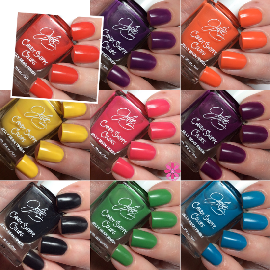 JulieG Candy Shoppe Colors Collection Swatches & Review