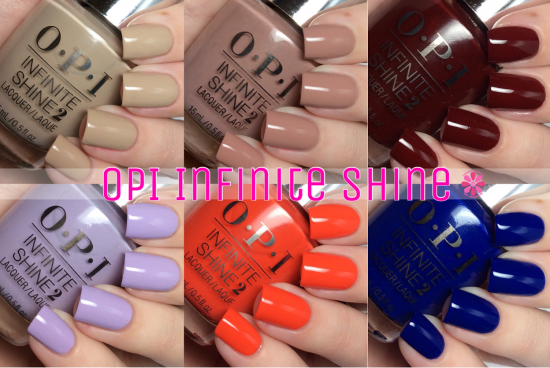 OPI Infinite Shine Swatches & Review