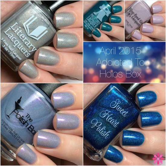 April Addicted to Holos Indie Box Reveal, Swatches & Review