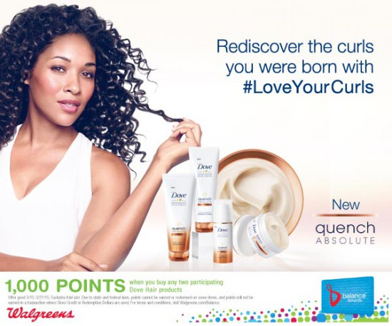 Love Your Curls at Walgreens PLUS A Dove Giveaway!