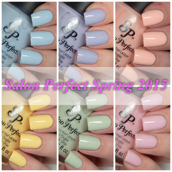 Salon Perfect Spring 2015 Pastels Swatches & Review
