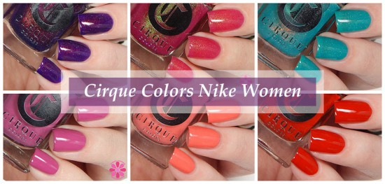 Cirque Colors Nordstrom Pop In for Nike Women Swatches & Review