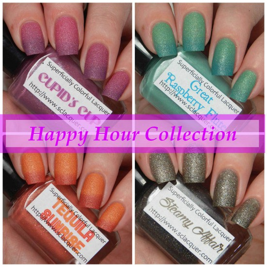 Superficially Colorful Happy Hour Collection Swatches & Review