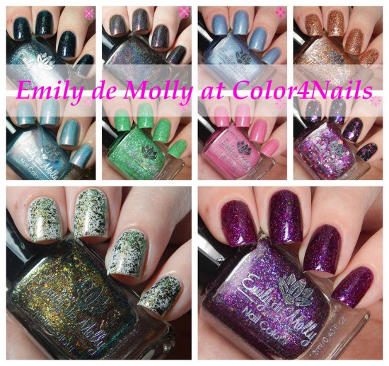Emily de Molly at Color4Nails.com Multiple Shades Swatches & Review