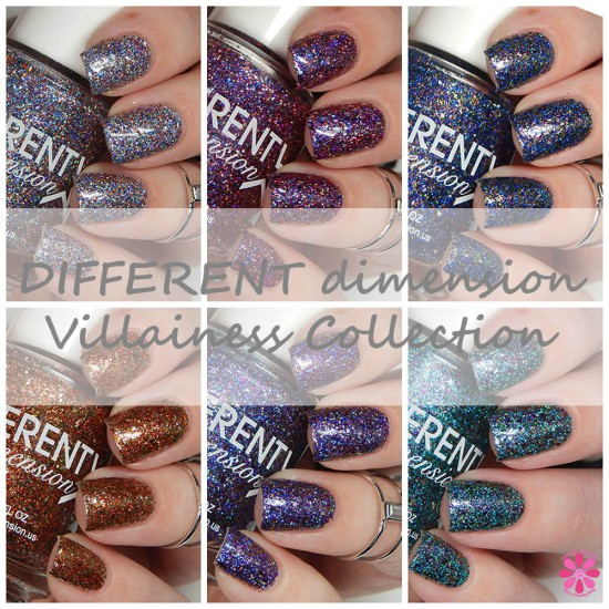 DIFFERENT dimension Villainess Collection Swatches & Review