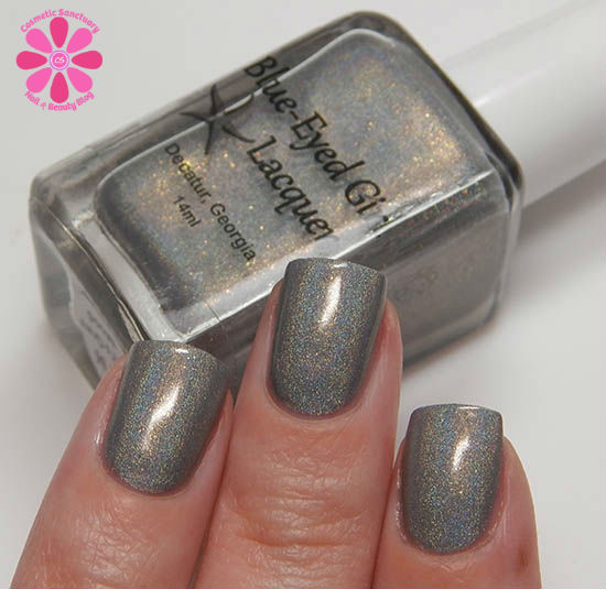 Blue Eyed Girl Lacquer Siren's Grey Mood for April 2015 Swatches & Review