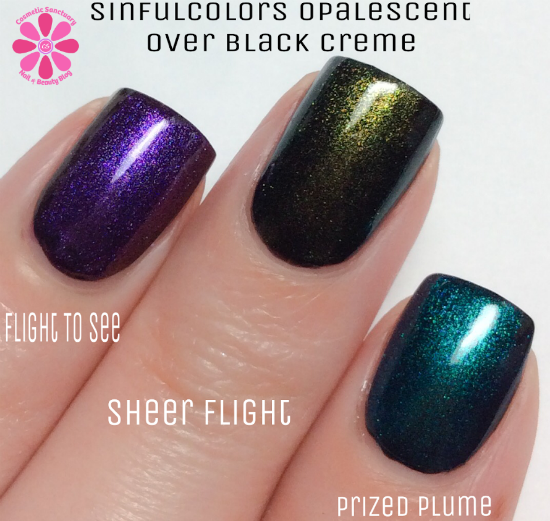 SinfulColors Opalescent Trend Toppers & Citrus Twist Toppers Swatches & Review