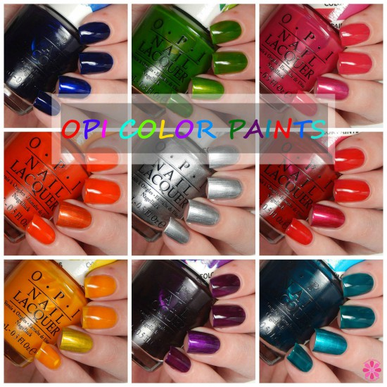 OPI Color Paints Swatches, Review & An Attempt At Nail Art