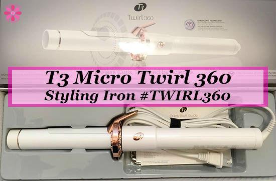 T3 Micro Twirl 360 Styling Iron Review #TWIRL360