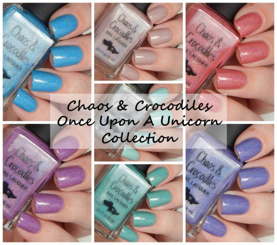 Chaos & Crocodiles Once Upon A Unicorn Collection Swatches & Review