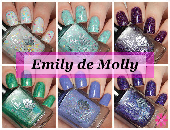 Emily de Molly Multiple Shades Swatches & Review