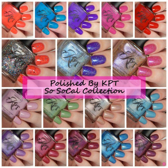 Polished By KPT So SoCal Collection Swatches, Review & Giveaway