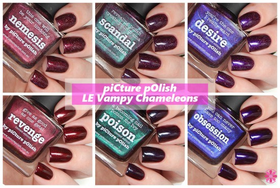 piCture pOlish Limited Edition Vampy Chameleons Collection Swatches & Review