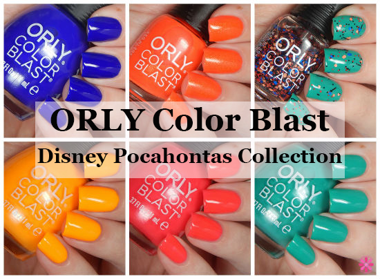 ORLY Color Blast Disney Pocahontas Collection Swatches & Review